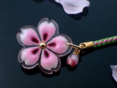 おぼろ桜の根付 ピンクミックス  WA-568