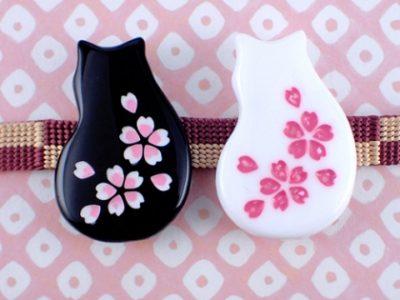 猫桜の帯留め  WA-570