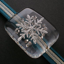 雪の結晶 帯留め(大)