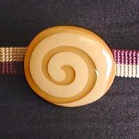 帯留 ロリポップ (キャラメル色) 正面