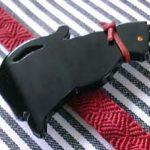 黒猫帯留(むこう向き)猫シルエット