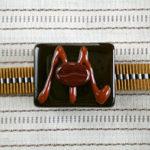 チョコレート帯留 正面