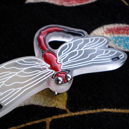蜻蛉の帯留 赤
