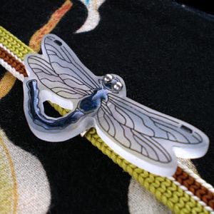 蜻蛉の帯留 黒