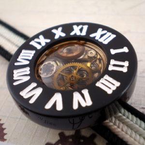 時計の帯留 黒×白
