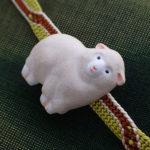 もこもこ羊の帯留 白