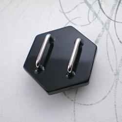 トランプ結晶帯留 黒 裏面