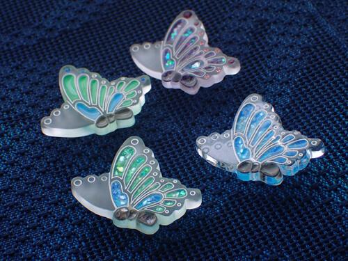 揚羽蝶の帯留め色違いいろいろ