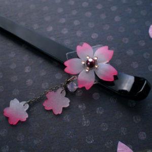 桜のかんざし(クリア) 桜部分