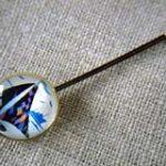オリジナルボタンのさしピン ヨット(2本セット) 白