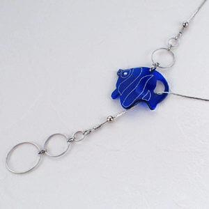 クリアカラーY字ネックレス 熱帯魚1 ブルー