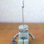 ロボロボ・カードスタンド【ライトグリーン】ロボットのカードスタンド 正面