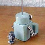 ロボロボ・カードスタンド【ライトグリーン】ロボットのカードスタンド 背面