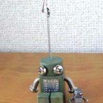 ロボロボ・カードスタンド【グリーン】ロボットのカードスタンド 正面