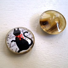 オリジナル釦 黒猫