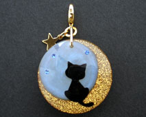 月夜猫のチャーム(オパール)チャーム部分