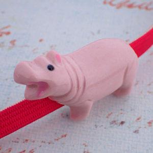 カバの帯留ピンク