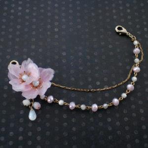 桜コサージュの羽織紐