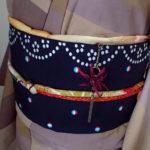 曼珠沙華の帯飾り 着画