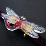 蜻蛉帯留 黒ライン 試作品