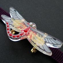 蜻蛉帯留 白ライン 試作品