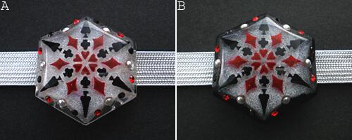トランプ結晶帯留め バリエーション 試作品