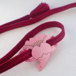 桜鶴の帯留め 大きいサイズ 試作品