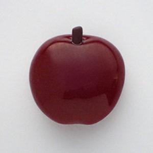 りんごの帯留め旧色 正面白背景