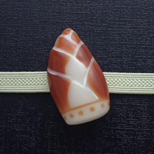 筍の帯留色違い 正面