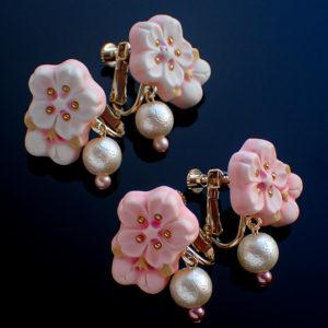 枝桜のイヤリング