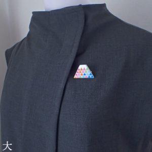 厄除7色の鱗紋富士ブローチ (大)
